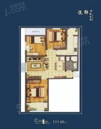 3室2厅1卫户型图