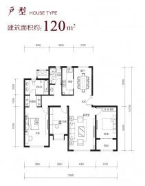 北京城建北京合院3室2厅2卫