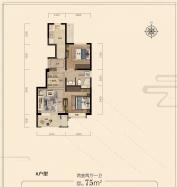 中机京山樾2室2厅1卫