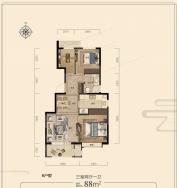 中机京山樾3室2厅1卫