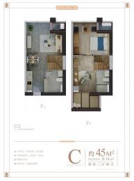 2室3厅2卫户型图