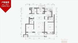 3室2厅2卫户型图
