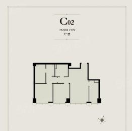 2室1厅户型图