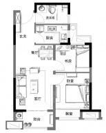 碧桂园枫境澜庭2室2厅1卫